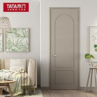 TATA木门 new060  实木复合门 墨本色竖纹