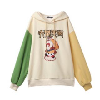 elf sack 妖精的口袋 大闹天宫联名系列 女士连帽加绒卫衣 1110_AL3003