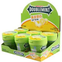 DOUBLEMINT 绿箭 脆皮软心薄荷糖柠檬薄荷味80g*6瓶装  办公室休闲零食