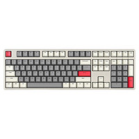 iKBC W210 2.4G无线机械键盘 108键 茶轴 时光灰