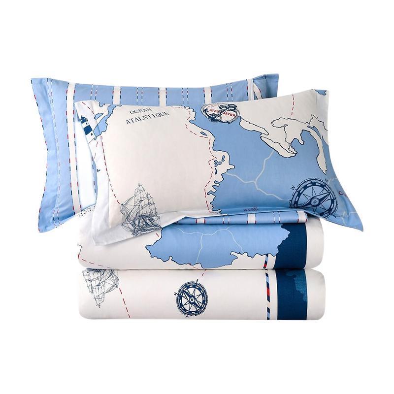 LOVO 乐蜗家纺 探险海岸线 全棉床品件套