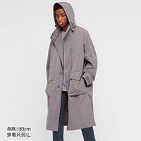 UNIQLO 优衣库 +J 440367 男士宽松连帽长大衣(