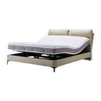 8H Milan DT4 智能真皮电动床+MZ1零度绵床垫套装 150*200cm