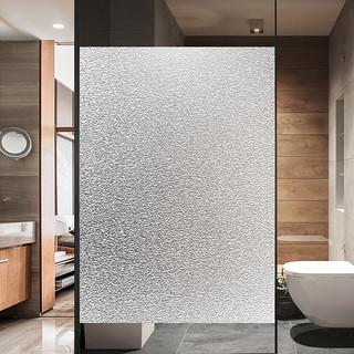 LOTI 乐贴 静电磨砂玻璃贴膜贴纸浴室卫生间窗户窗花贴透光不透明防走光家用
