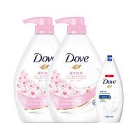 88VIP:Dove 多芬 樱花甜香沐浴乳套装 (樱花甜香1kg*2+深层营润190g)