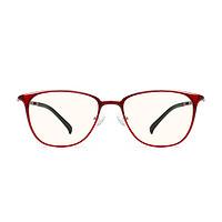 MI 小米 FU009-0621 TS防蓝光眼镜 红色镜架款 1副装