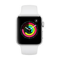 Apple 苹果 Watch Series 3 智能手表 42mm GPS版 银色铝金属表壳 白色运动型表带(心率)