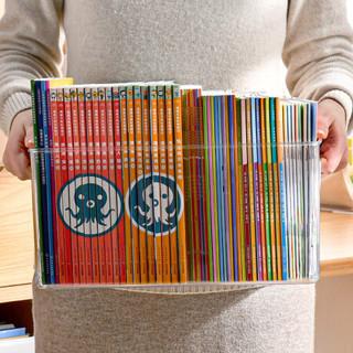 BELO 百露 书本收纳盒透明学生儿童绘本书桌整理神器桌面置物架A4文件储物筐 大号收纳盒