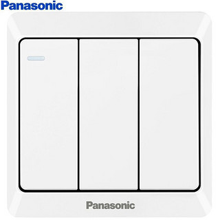 Panasonic 松下 WMWA515-N 86型墙面开关 三开单控
