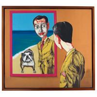 中国嘉德 曾梵志 面具系列1998第17号 179×199cm 布面油画 1998