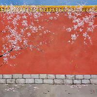 中国嘉德 庞均 宫墙早春 200×200cm 布面油画 2021