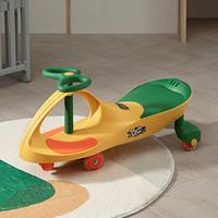 babycare扭扭车儿童溜溜车万向轮男1-3岁女宝宝婴幼儿摇摆扭扭车 BC2101043-1 洛克黄