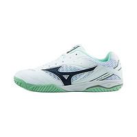 Mizuno 美津浓 Wave Drive 8 中性乒乓球鞋 81GA170514 白色/黑色/天蓝色 42