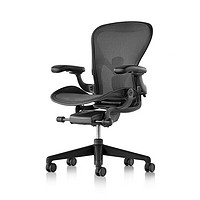 HermanMiller 赫曼米勒 Aeron系列 人体工学电脑椅 石墨色 中号