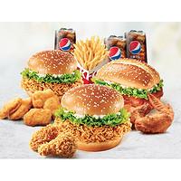 KFC 肯德基 Y541 肯德基夏日超值欢聚餐(3人)兑换券