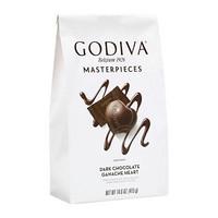临期品:GODIVA 歌帝梵 爱心黑巧克力 金边 421g