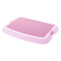 爱丽思IRIS 单层猫厕所落砂垫脚垫平板式日本爱丽思猫砂垫落砂垫 粉红色