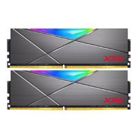ADATA 威刚 XPG系列 龙耀 D50 DDR4 3200MHz RGB 台式机内存 钛灰 16GB 8GBx2