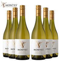 PLUS会员:MONTES 蒙特斯 天使系列 霞多丽干 白葡萄酒 750ml*6瓶