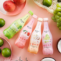 优之良饮苏打气泡水0糖0脂卡桃子葡萄蜜橘味饮料汽水380ml*12瓶 白桃味