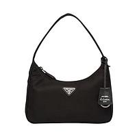黑卡会员:PRADA 普拉达 女子珐琅金属徽标手提包