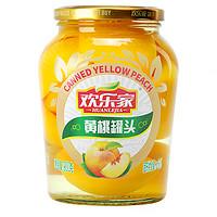 欢乐家 糖水黄桃罐头 900g