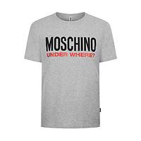 MOSCHINO 莫斯奇诺 男士圆领短袖T恤 A1915 8103 0489 灰色 M