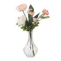 IKEA 宜家 思米加人造牡丹花+维利斯花瓶