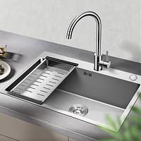 VATTI 华帝 06119 304不锈钢厨房水槽+33080全铜龙头
