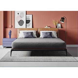 8H 床垫 小米乳胶弹簧床垫MDL1.8m 天然乳胶邦尼尔弹簧床垫 21cm厚护脊床垫 布拉格灰 1500*2000
