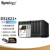 群暉(Synology)DS1621+ 搭配3塊希捷(Seagate) 12TB酷狼pro ST12000NE0008硬盤 套裝