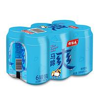 yeo's杨协成风味果汁马蹄爽罐装300ml*6罐荸荠果粒饮料清爽甘蔗汁  1件