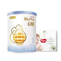 Wyeth 惠氏 蓝钻 幼儿配方奶粉 3段 350g+好奇纸尿裤 XL4