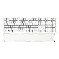 HEXGEARS 黑峡谷 X5 机械键盘 108键 牛奶绵绵冰+白色皮革手托