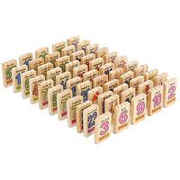 SANZHI 三知 多米诺骨牌100片儿童益智玩具认知