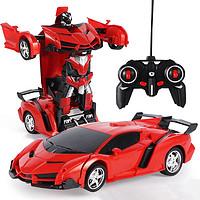 变形遥控汽车金刚机器人可充电动儿童玩具男孩兰博基尼遥控车赛车