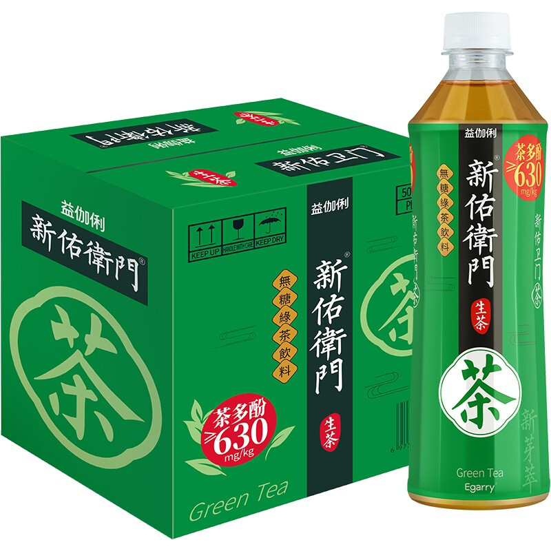 绿茶 富含茶多酚 500ml*6瓶
