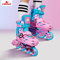 COUGAR 美洲狮 MZS303 儿童轮滑鞋套装