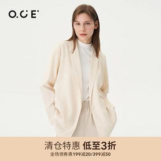 OCE 女装短款西装2021年夏季新款休闲西装外套女春秋宽松上衣