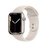 22日10点:Apple 苹果 Watch Series 7 GPS版 41mm 星光色铝金属表壳 星光色运动型表带